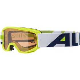 Alpina Piney Goggles Kinderen, geel/wit